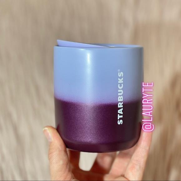 Starbucks Lilac Purple Ombre Ceramic Travel Mug